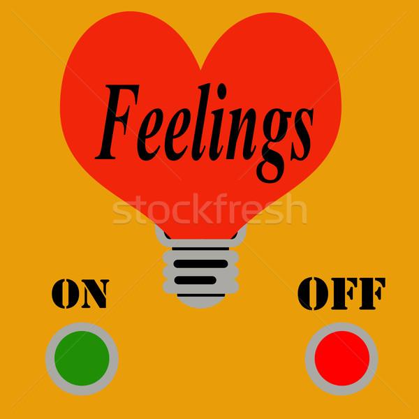 Sentimentos abstrato texto fundo vermelho conceito Foto stock © carmen2011