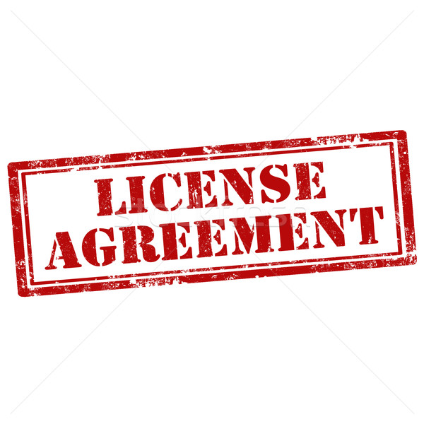 Licentie overeenkomst grunge tekst business Stockfoto © carmen2011