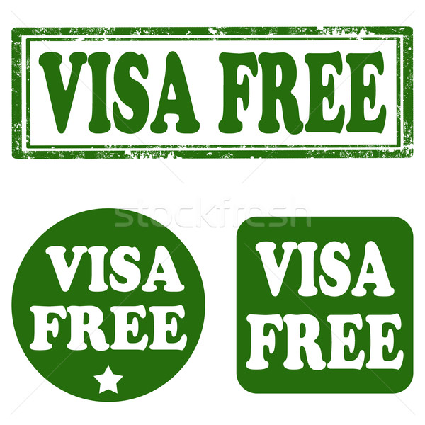 Visum ingesteld postzegels tekst gratis toeristische Stockfoto © carmen2011