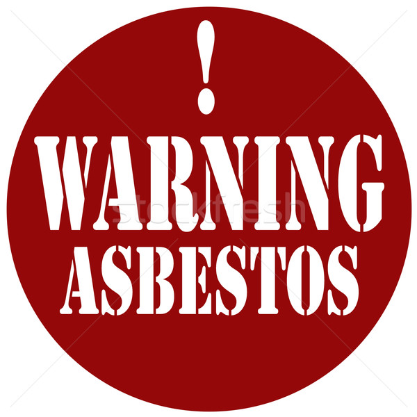 Warning Asbestos-stamp Stock photo © carmen2011