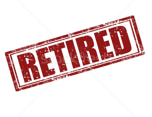 Retired-stamp Stock photo © carmen2011