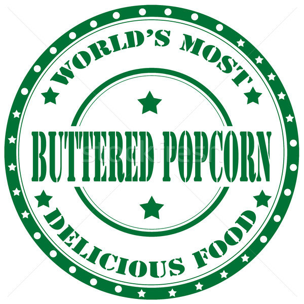 Buttered Popcorn-stamp Stock photo © carmen2011