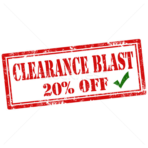 Clearance Blast-stamp Stock photo © carmen2011