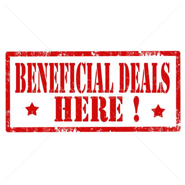 Beneficial Deals-stamp Stock photo © carmen2011