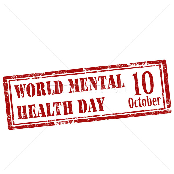 World Mental Health Day-stamp Stock photo © carmen2011