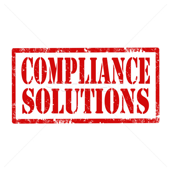 Compliance Solutions-stamp Stock photo © carmen2011