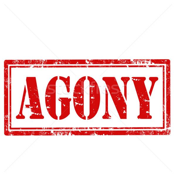 Grunge tekst rubber icon illustratie Stockfoto © carmen2011