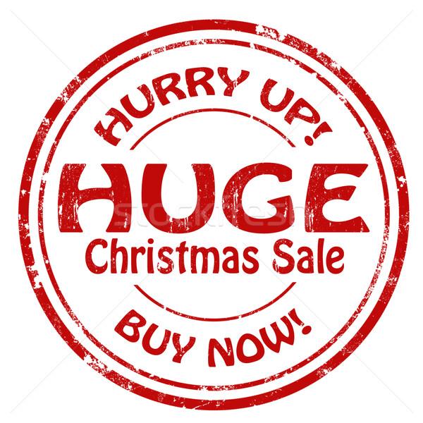 Hatalmas karácsony vásár grunge pecsét szöveg Stock fotó © carmen2011