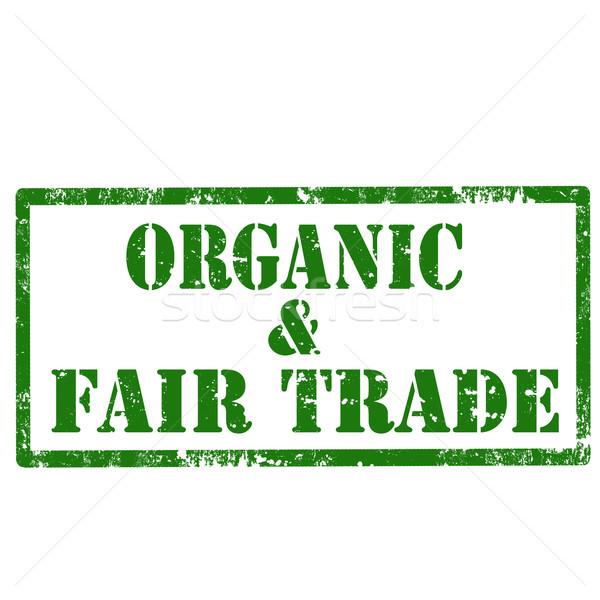 Orgánico justo grunge texto saludable Foto stock © carmen2011