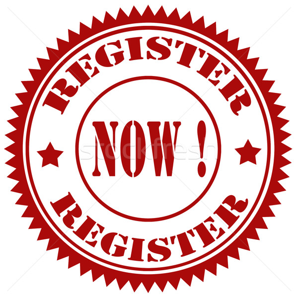 Register Now!-stamp Stock photo © carmen2011