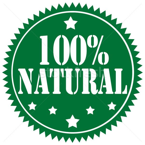 Címke szöveg 100 étel információ ikon Stock fotó © carmen2011