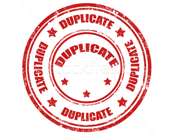 Duplicate-stamp Stock photo © carmen2011