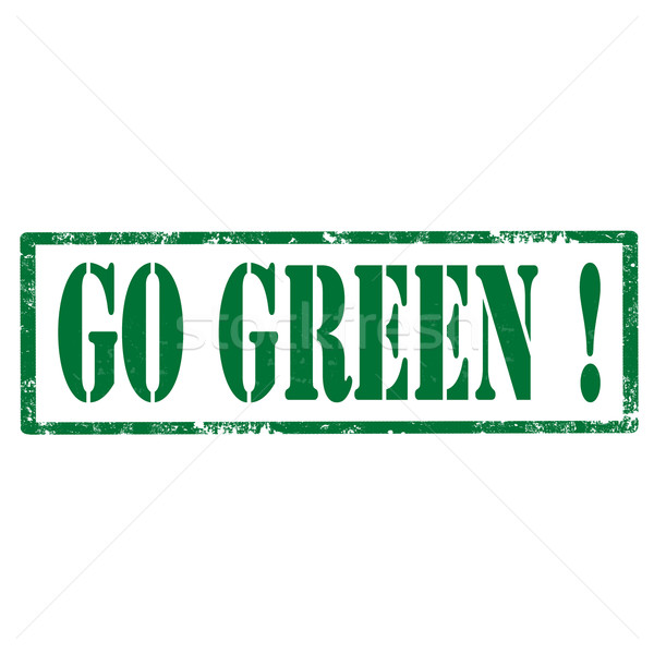 Go Green!-stamp Stock photo © carmen2011