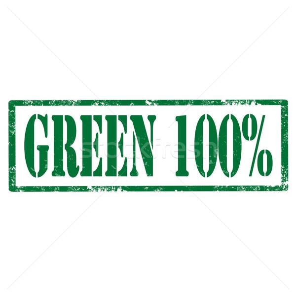Stockfoto: Groene · grunge · tekst · recycleren · rubber