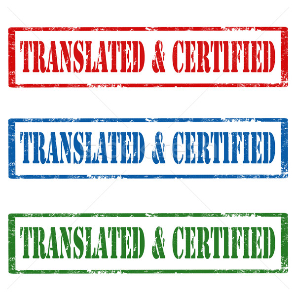 Translated & Certified-stamps Stock photo © carmen2011