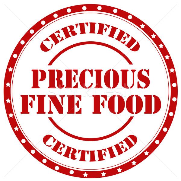értékes étel piros pecsét szöveg információ Stock fotó © carmen2011