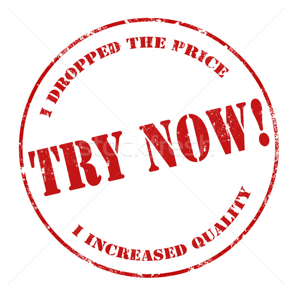Try Now-stamp Stock photo © carmen2011