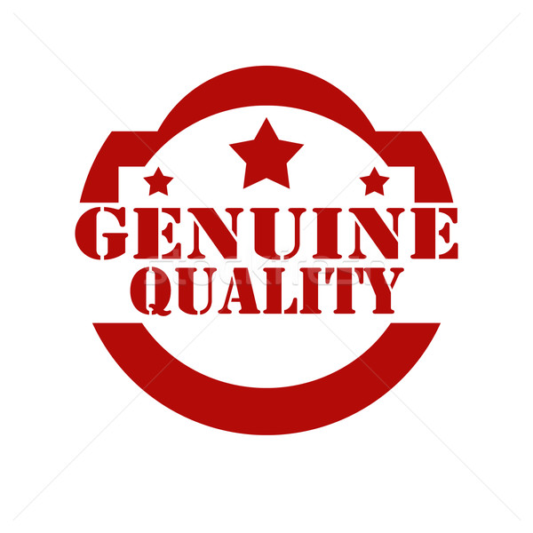 Genuine Quality-stamp Stock photo © carmen2011
