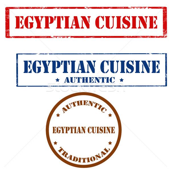 Egyptian Cuisine-stamps Stock photo © carmen2011