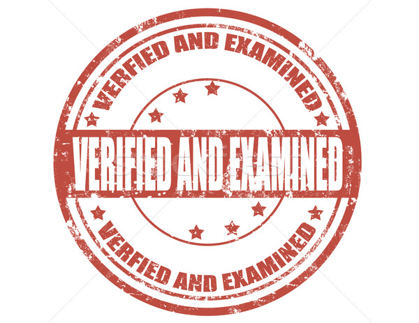 Verified and examined Stock photo © carmen2011