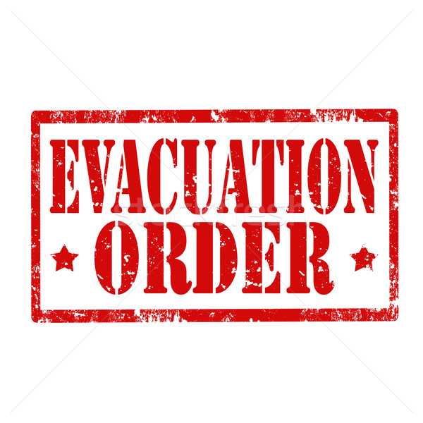 Evacuation Order-stamp Stock photo © carmen2011