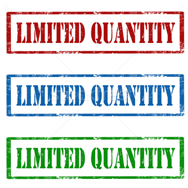 Limited Quantity-stamps Stock photo © carmen2011