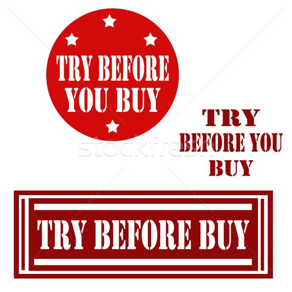 Vásárol szett címke szöveg üzlet gazdaság Stock fotó © carmen2011
