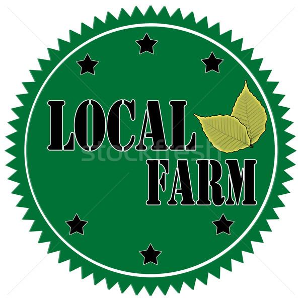 Locale etichetta testo alimentare agricoltura vettore Foto d'archivio © carmen2011