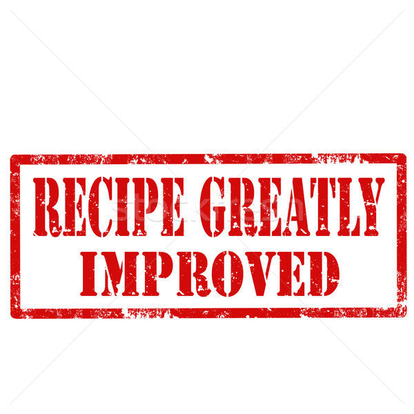 Recipe Greatly Improved-stamp Stock photo © carmen2011