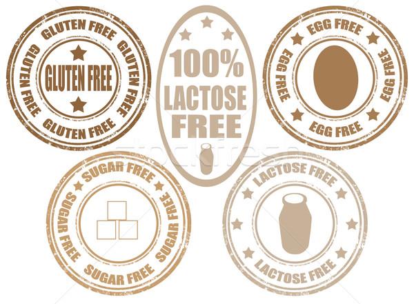 Timbres allergie produit grunge caoutchouc Photo stock © carmen2011