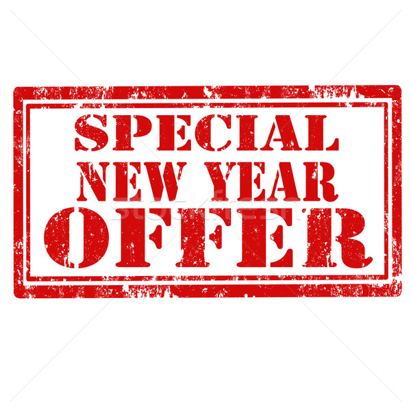 Special New Year Offer-stamp Stock photo © carmen2011