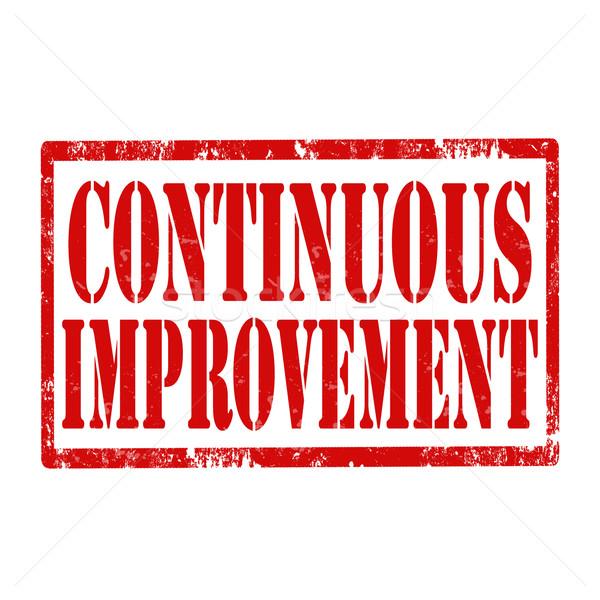 Continuous Improvement-stamp Stock photo © carmen2011