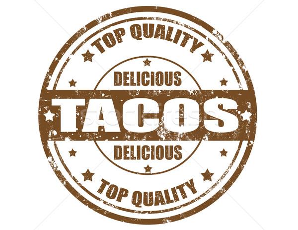 Grunge kelime tacos iş dizayn Stok fotoğraf © carmen2011