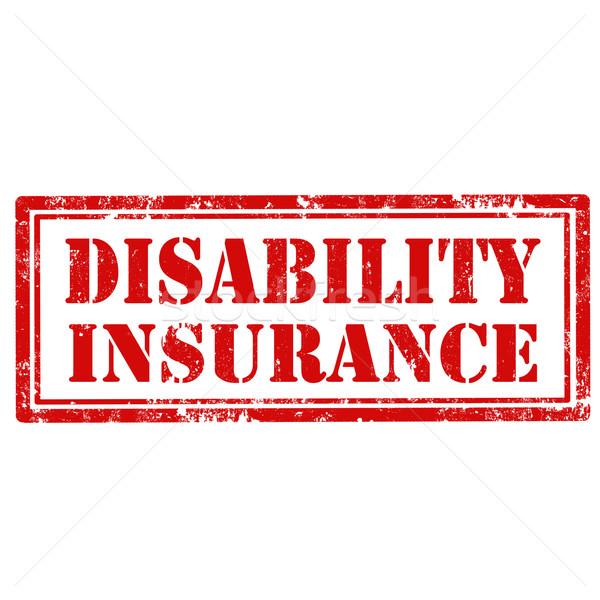 Zdjęcia stock: Inwalidztwo · grunge · tekst · ubezpieczenia · gumy