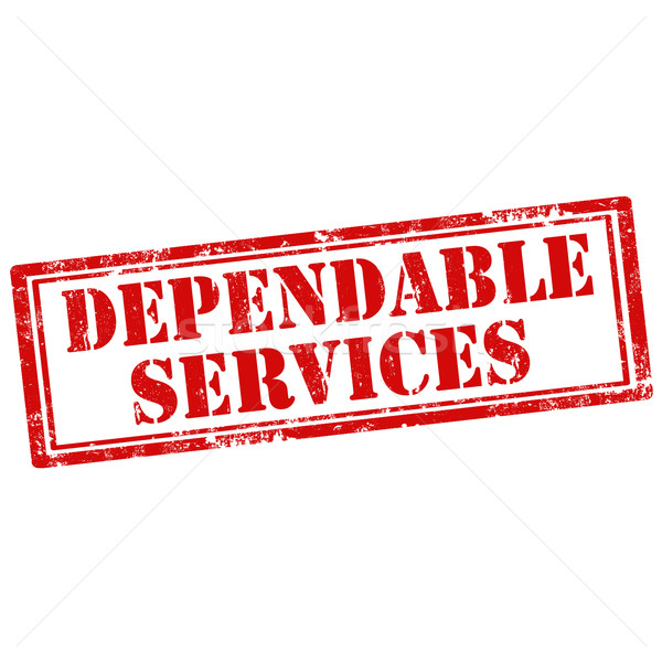 Dependable Services-stamp Stock photo © carmen2011