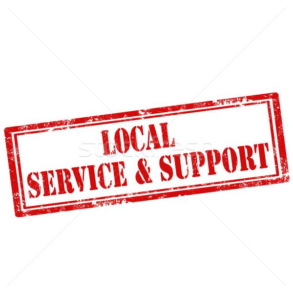 Local servicio apoyo grunge texto Foto stock © carmen2011