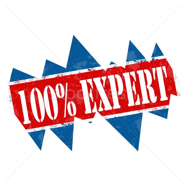 100% Expert-stamp Stock photo © carmen2011