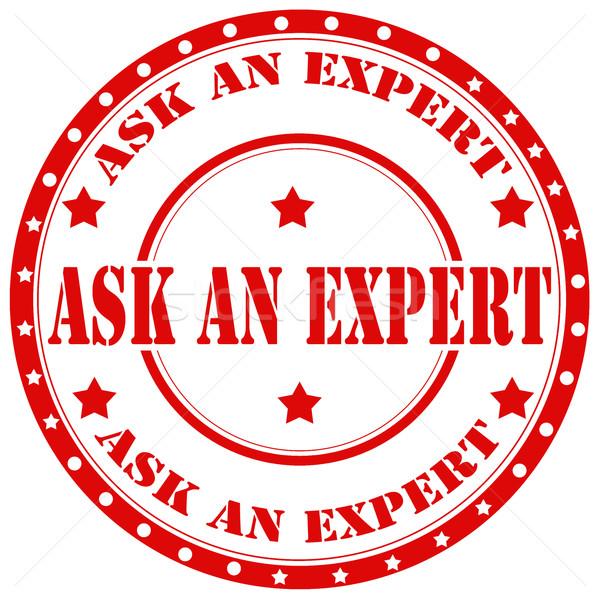 Perguntar vermelho texto escritório borracha Foto stock © carmen2011