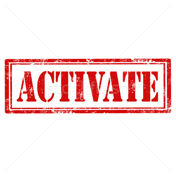 Activate-stamp Stock photo © carmen2011