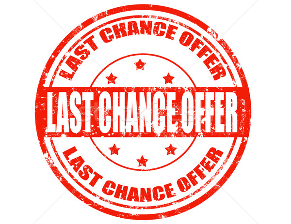 Last chance offer-stamp Stock photo © carmen2011
