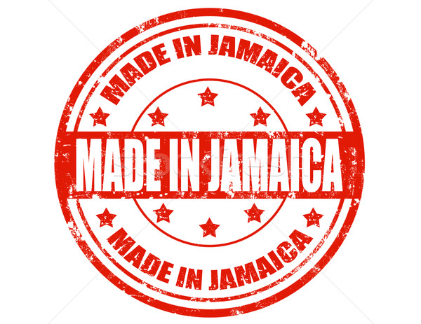 Made in Jamaica-stamp Stock photo © carmen2011