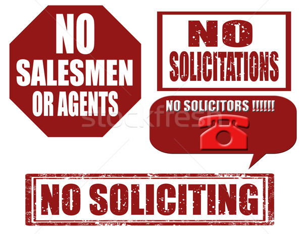 No soliciting-stamps Stock photo © carmen2011