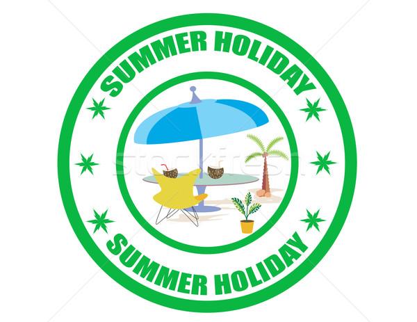 Verão etiqueta texto férias de verão fundo estrelas Foto stock © carmen2011