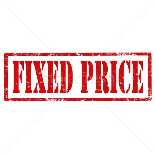 Fixed Price-stamp Stock photo © carmen2011