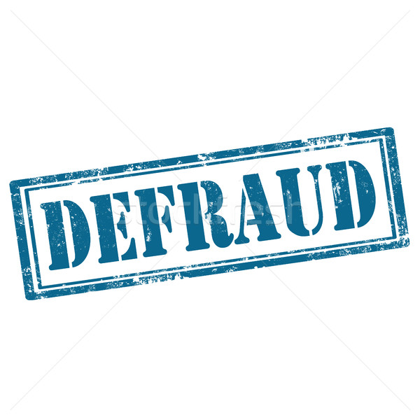 Defraud-blue stamp Stock photo © carmen2011