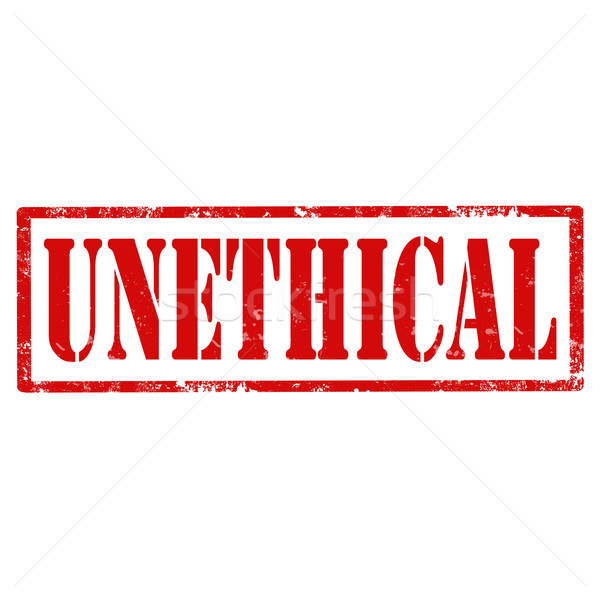 Unethical-stamp Stock photo © carmen2011