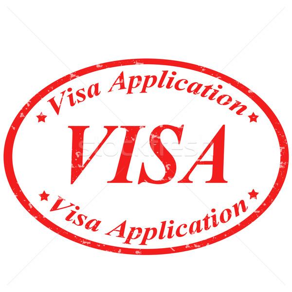 Visa-stamp Stock photo © carmen2011