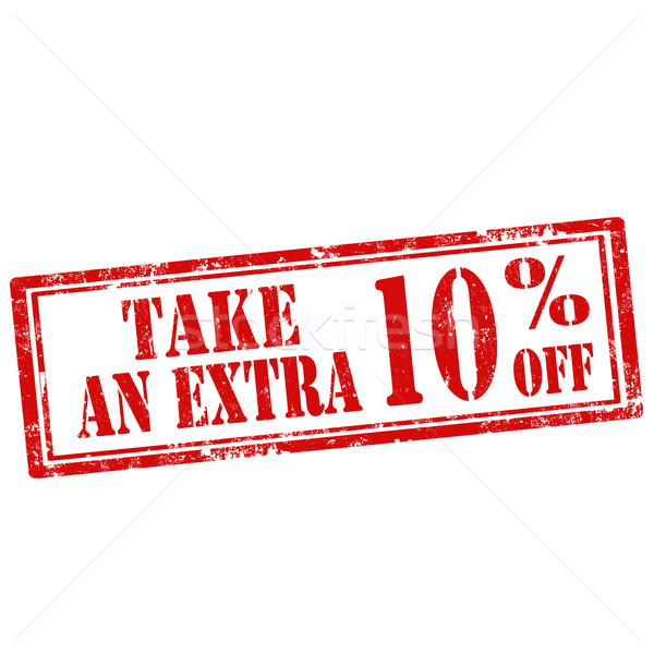 Stock photo: Take An Extra 10% Off-stamp
