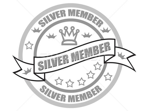 серебро член штампа дизайна искусства знак Сток-фото © carmen2011