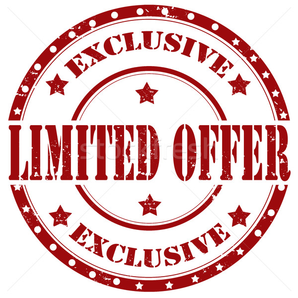 Stock photo: Limited Offer-stamp